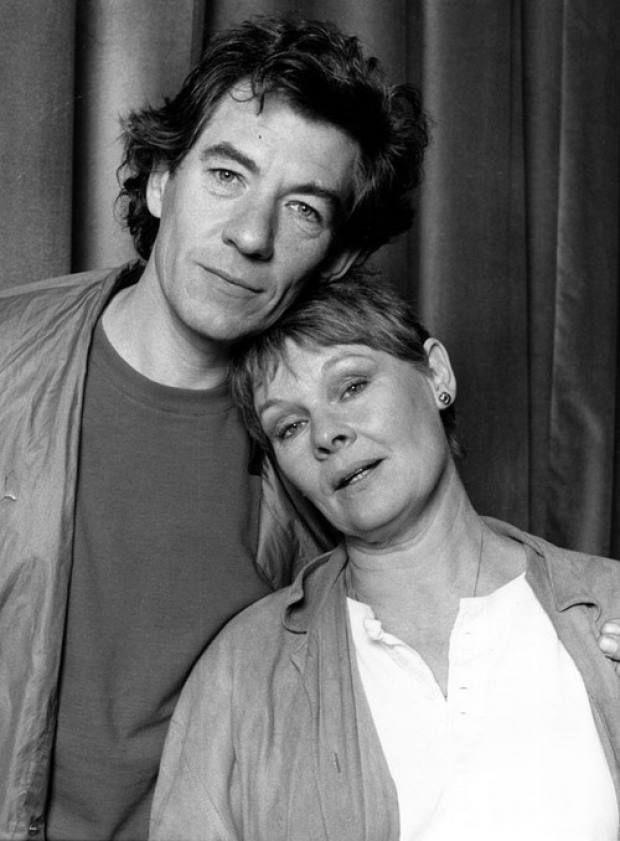 Ian Mckellen and Judi Dench, mid 1970s. Image via Reddit.