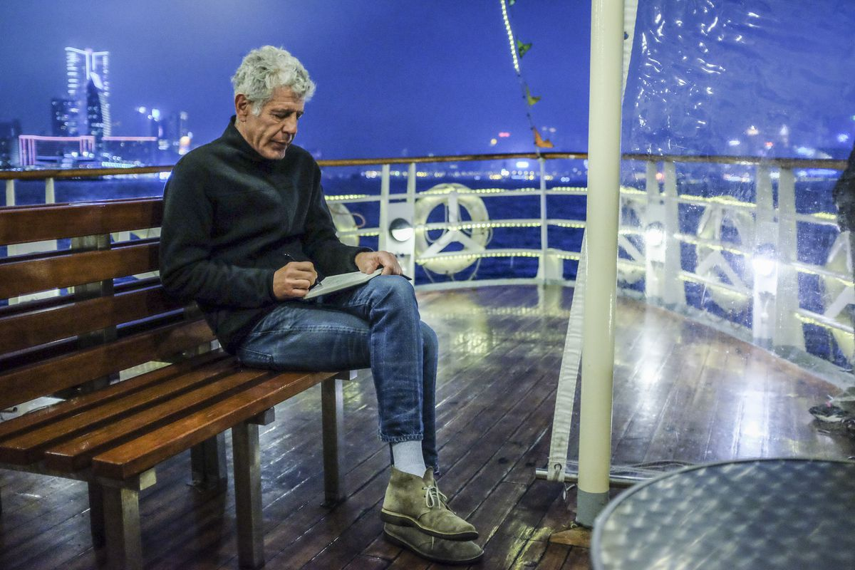 Anthony Bourdain in Hong Kong. Image via  Eater.