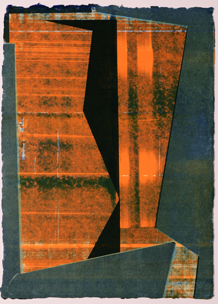 These monoprints were exhibited in a solo exhibition,  Folding Space: New Monoprints at Haw Contemporary  in March/April 2015.  More about Warren Rosser's work can be found on  his website  and at  Haw Contemporary  in Kansas City, Missouri.  all images ©Warren Rosser