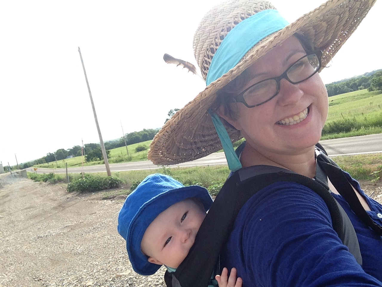 We spent the week reading, drawing, crocheting, and taking lots of long walks to see the countryside. We were working on preparing pieces for an exhibition,  Pray for Oil  , to be held at   the Arts Council of Southeast Missouri in October 2015  .