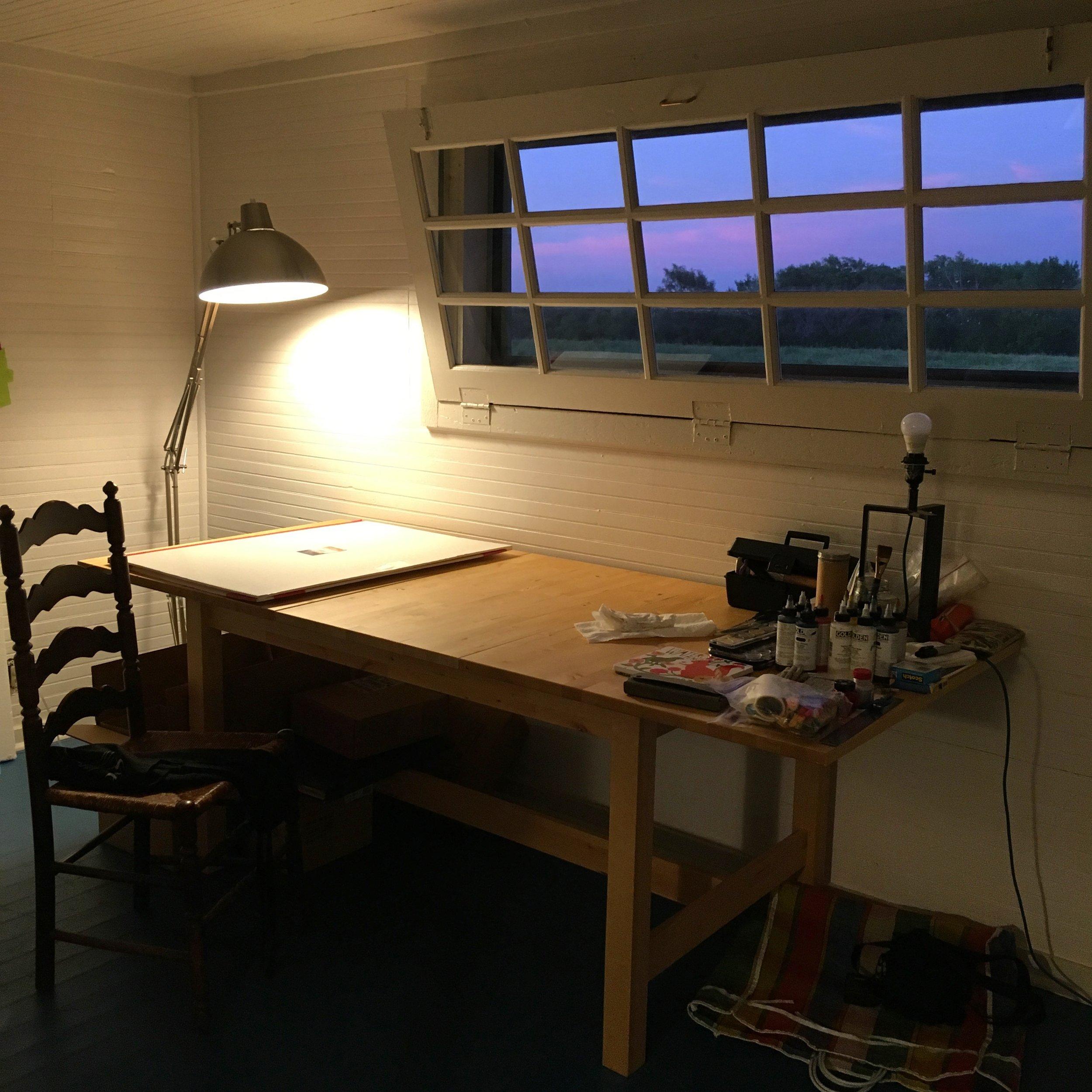Studio in evening