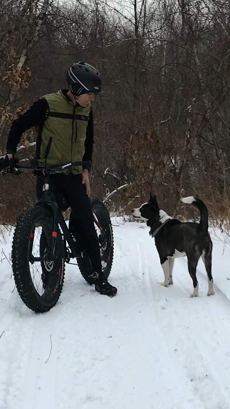 fat biking  with jack @stewart forest