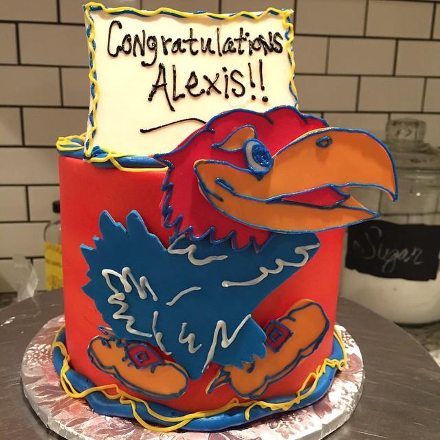 KU Jayhawk cake