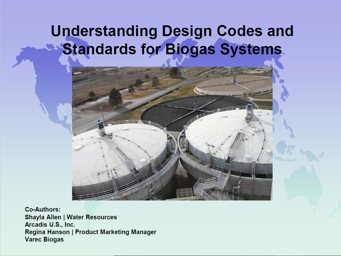Understanding Design Codes and Standards for Biogas Systems | Shayla Allen, Water Resources