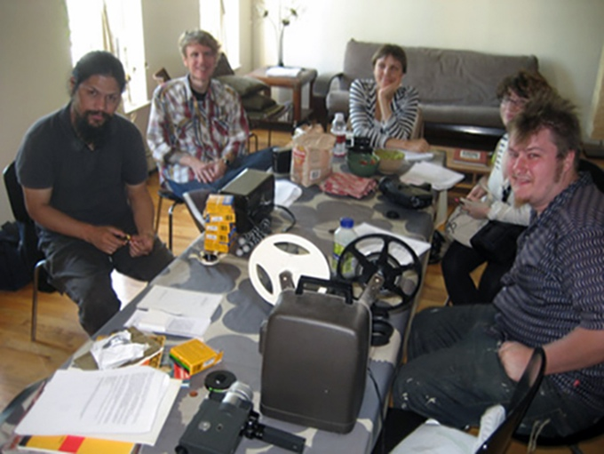 2008 - Super 8mm workshop held in our founder's living room, Bushwick, Brooklyn.