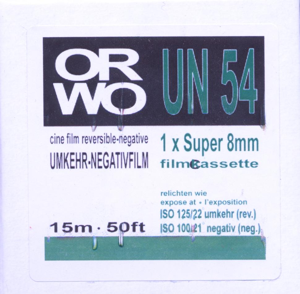 ORWO UN54   $40.00 - 50ft SUPER 8 Cartridge