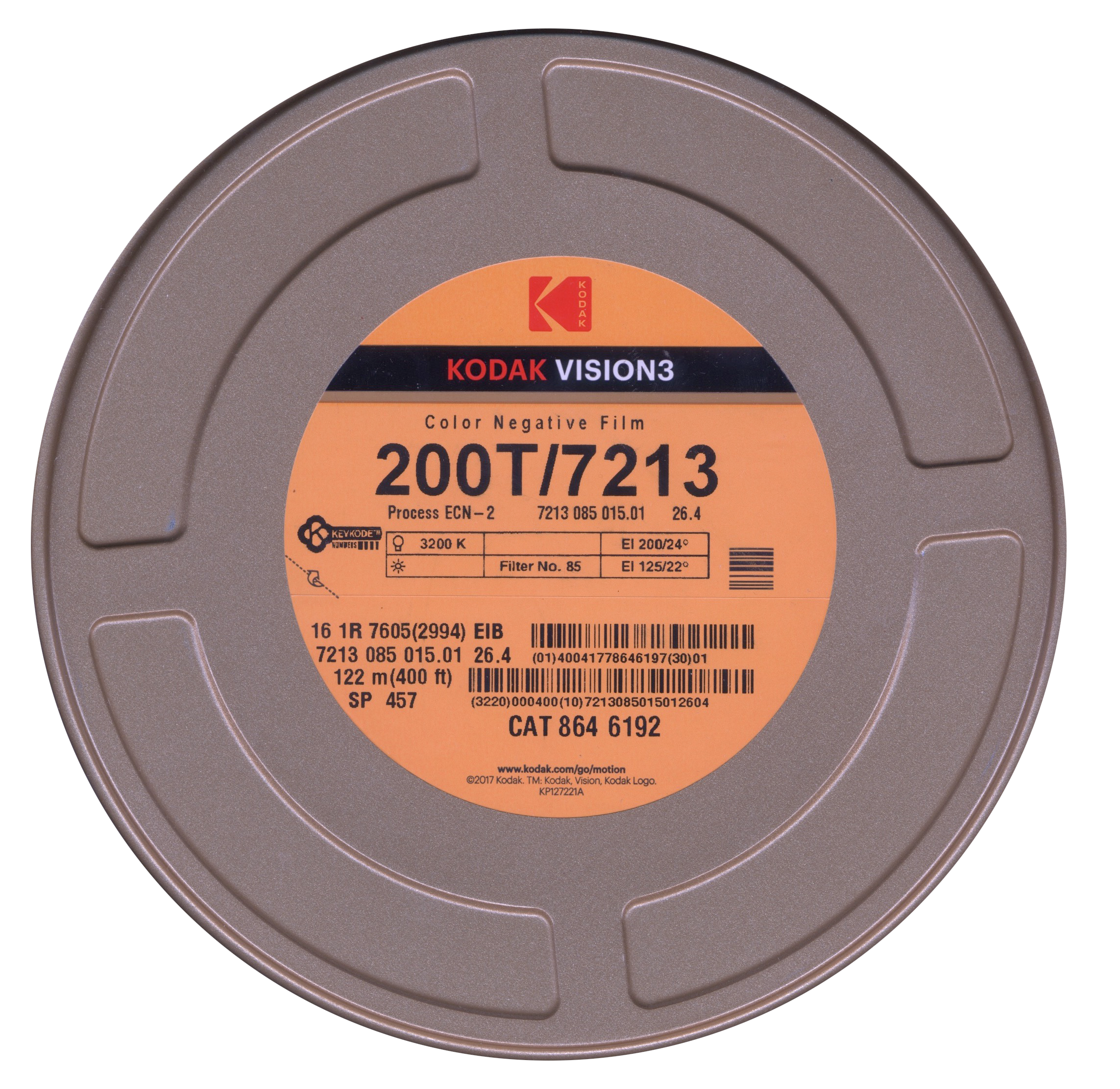 VISION 3 200T/7213   COLOR NEGATIVE 16MM $177.00 - 400FT ON CORE
