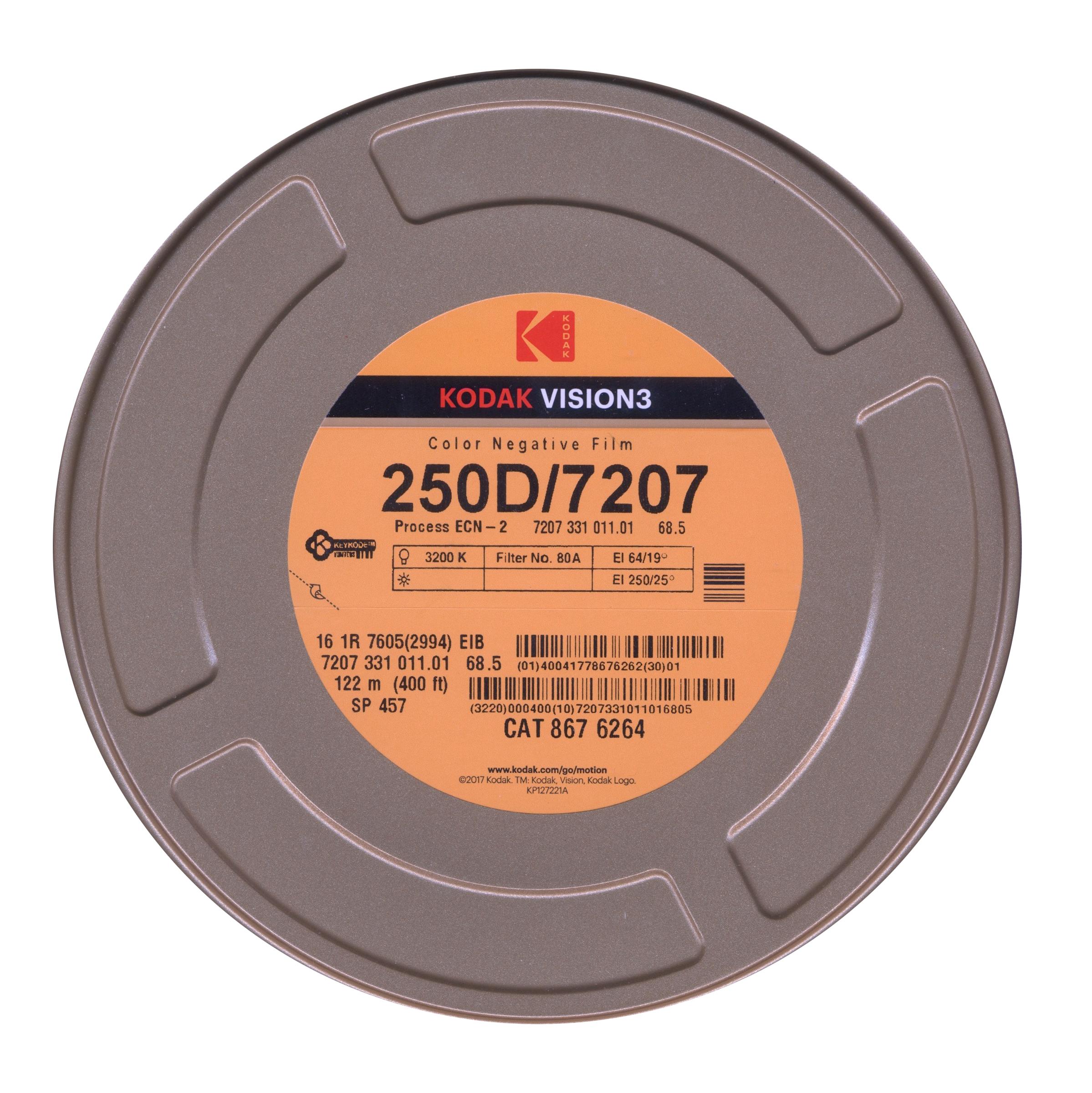 VISION 3 250D/7207   COLOR NEGATIVE 16MM $177.00 - 400FT ON CORE