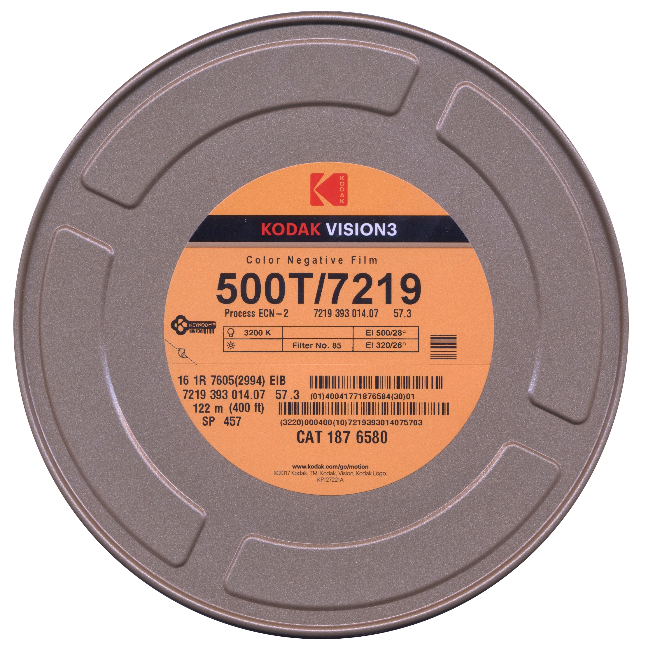 VISION 3 500T/7219   COLOR NEGATIVE 16MM $177.00 - 400ft ON CORE