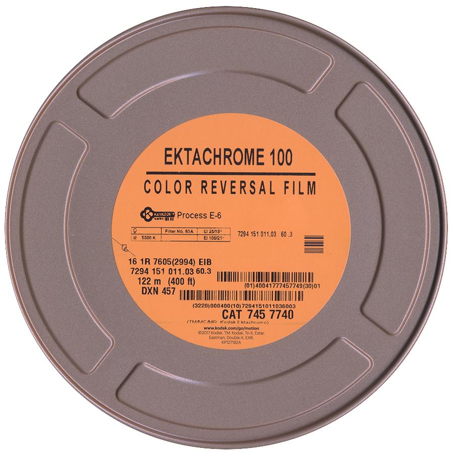 EKTACHROME 100D/7294  COLOR REVERSAL 16MM $240.00 - 400FT ON CORE