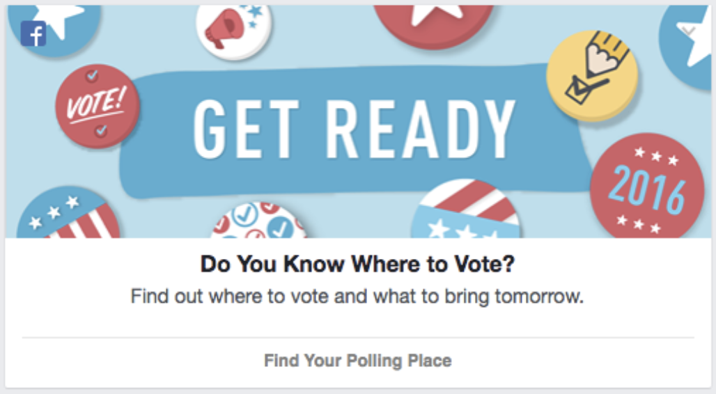 - Facebook's Election Day reminders are powered by our API, which tracks thousands of local, special, primary, state, and federal elections every year.