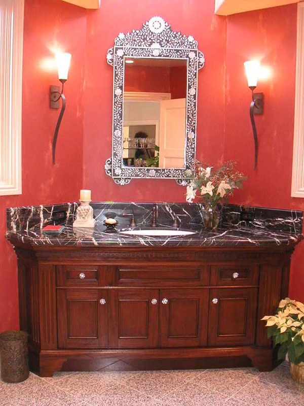 Mahogany vanity, Dean Lesher Mansion, Walnut Creek