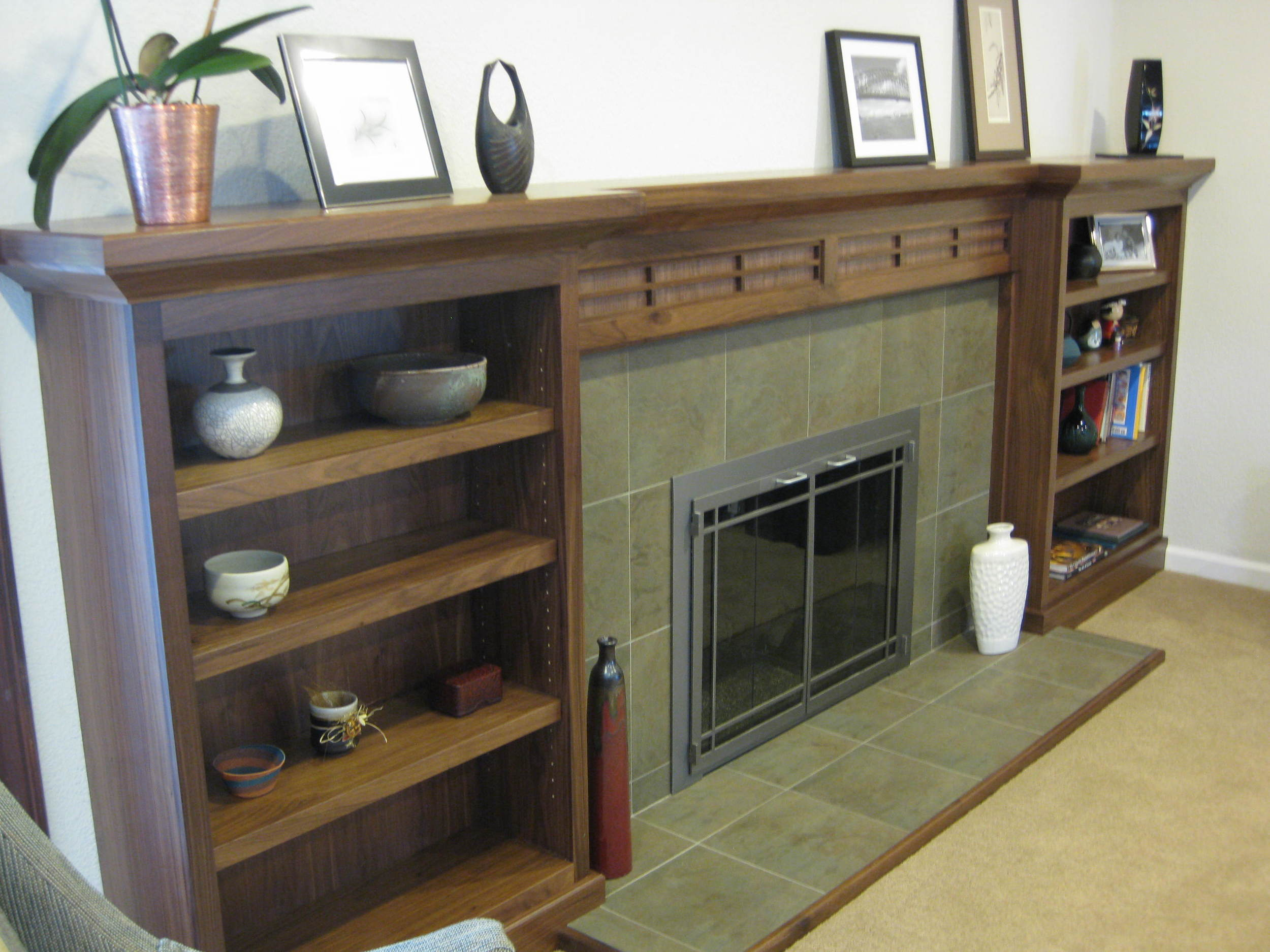 Sunnyvale, CA, Walnut Fireplace Mantel