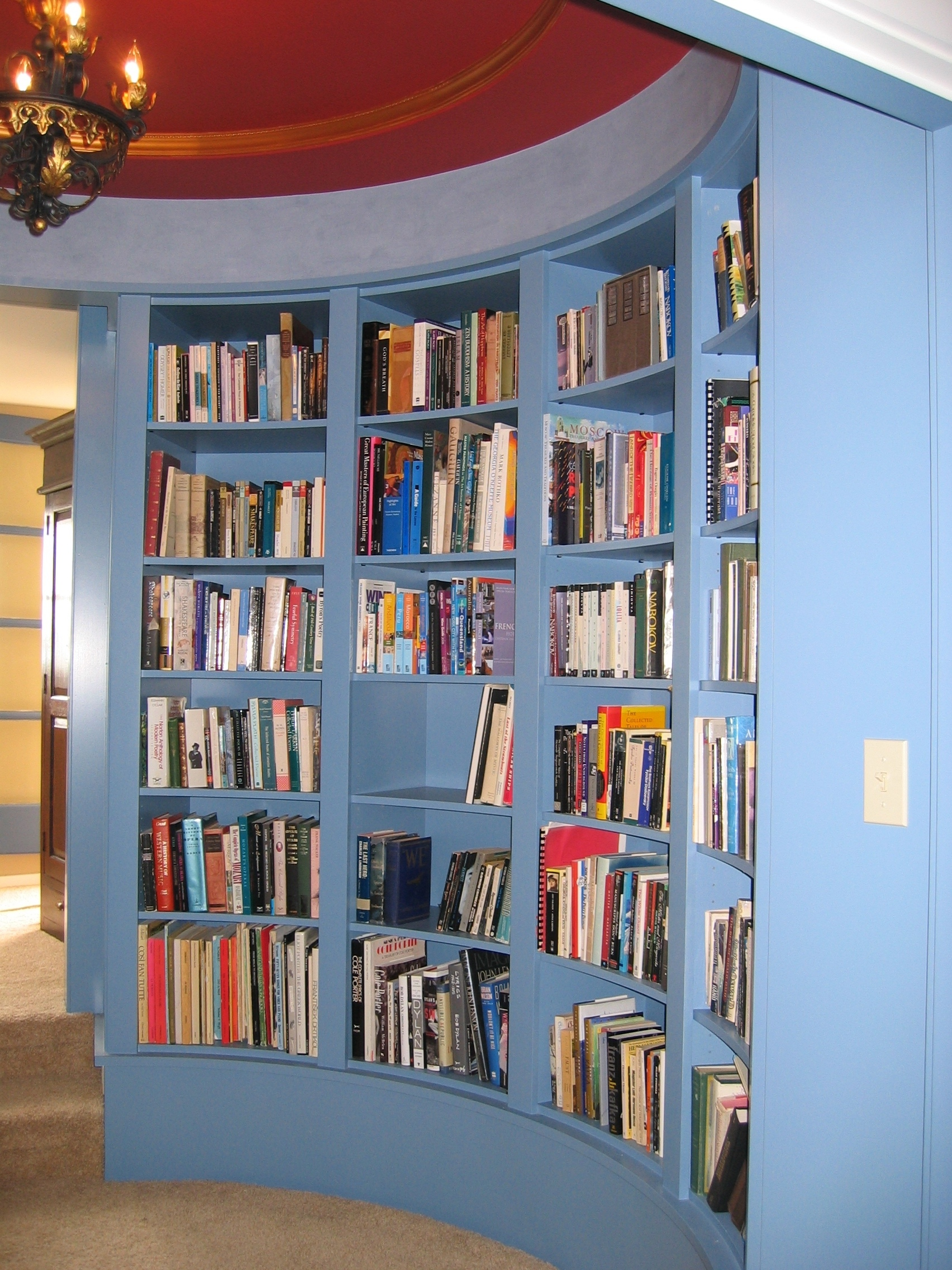 Painted circular library.JPG