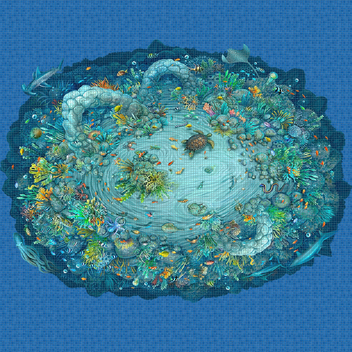 Sea-Life-Digital-Print-Mosaic-Ezarri.jpg