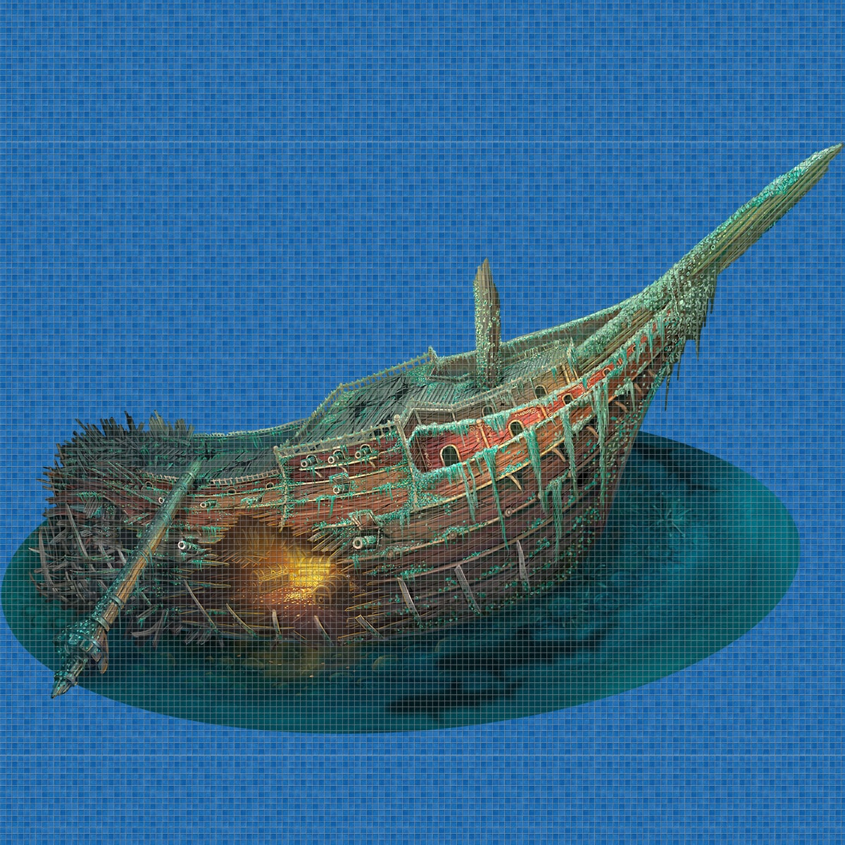 Treasure-Ship-Digital-Print-Mosaic-Ezarri.jpg