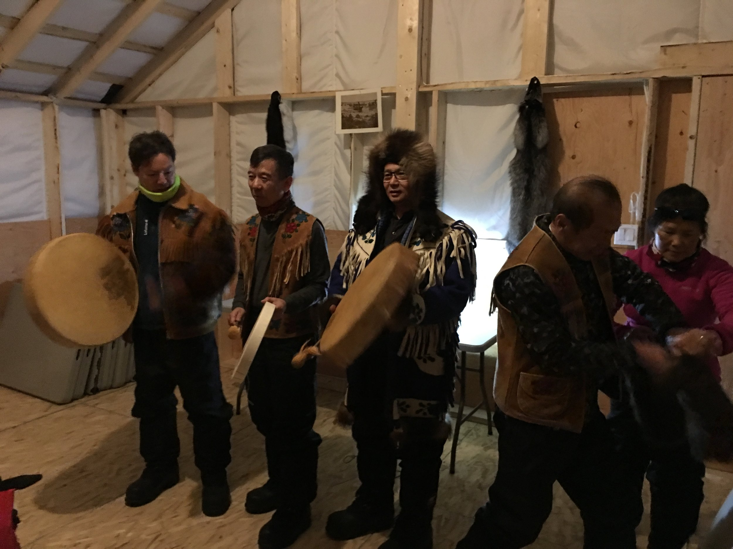 - We begin with drum song and an introduction of our Ancestor's history and way of survival in one of the tents they would have lived in, including a trap demonstration and photo shoot with traditional Indigenous clothing and furs.