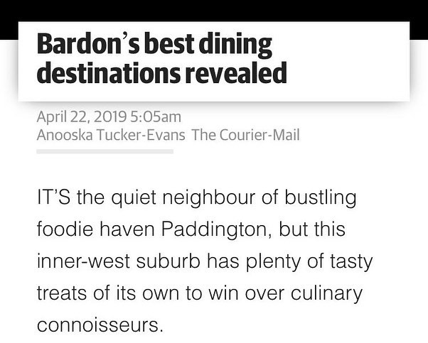 Bardon's best dining destinations revealed! Thank you @couriermail 👌🏽 . . . . #brisbaneeats #couriermail #bardonsbest #foodie #foodiehaven #paddington #innerwest #persian #persianrestaurant #sogood #brisbane #brisbaneanyday #brisbanedessert #ordernow #brisbanefoodie #sogood #gheimeh #bellydancer #kabab #saffronrice