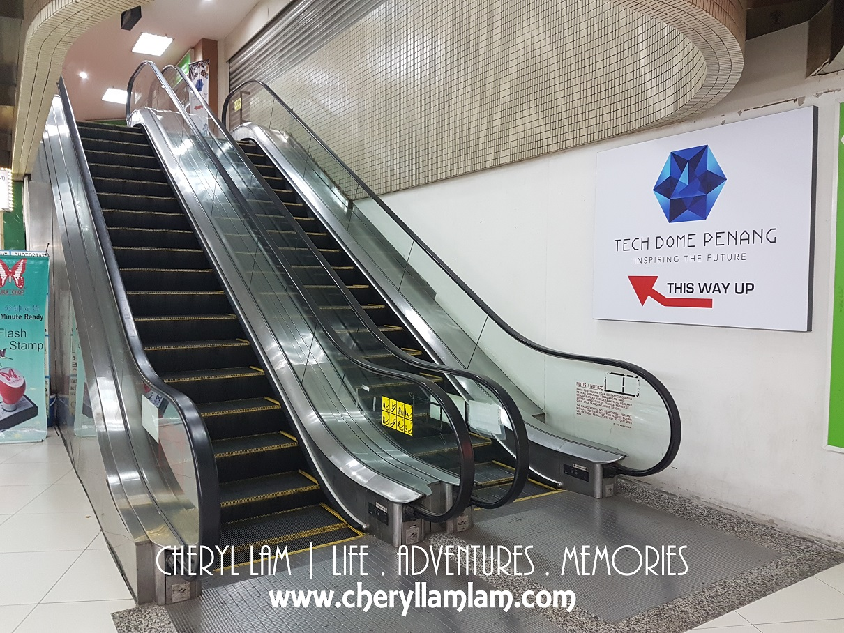 When you see KFC at level 3 KOMTAR, take the escalator next to KFC to level 4 and you should see the entrance to Tech Dome next to PBA