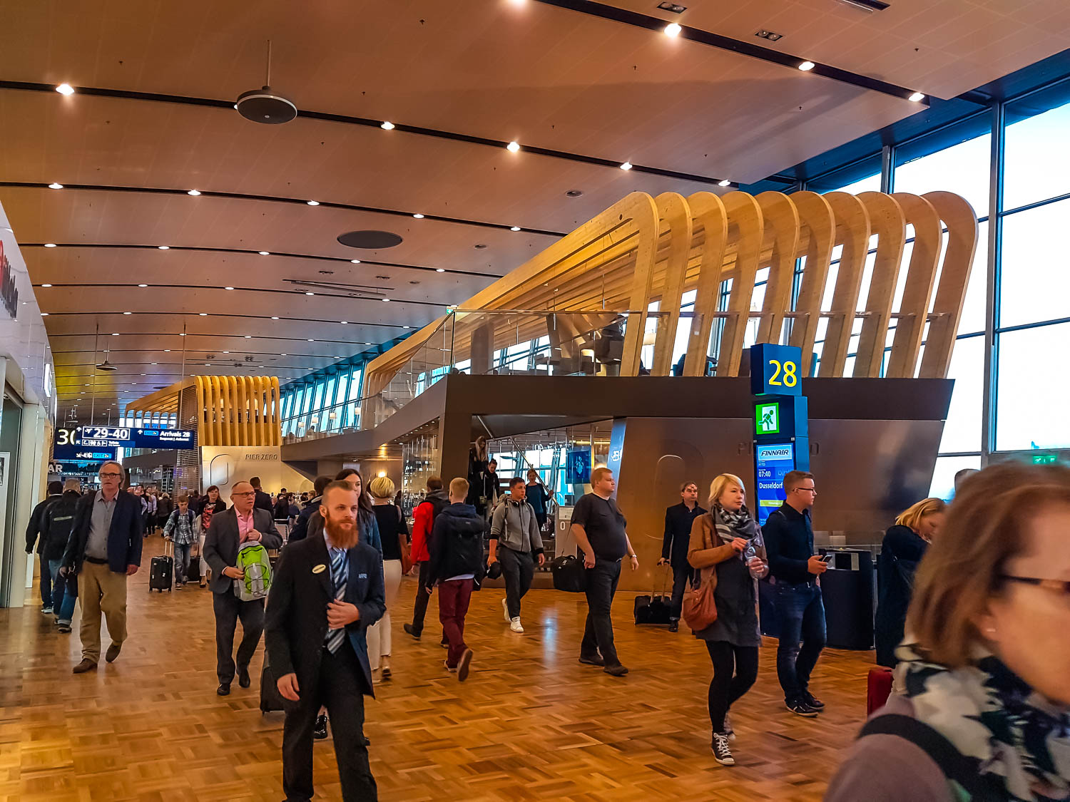 A glance of the modern Helsinki Airport, Finland