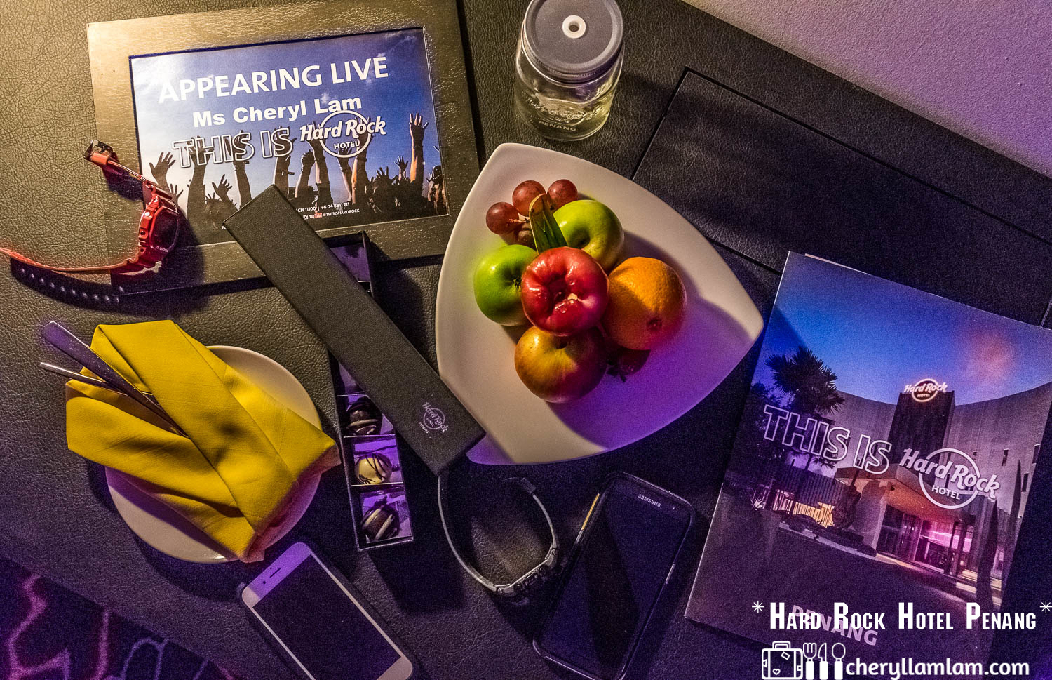 Thank you Hard Rock Hotel Penang for the welcome gifts! :)