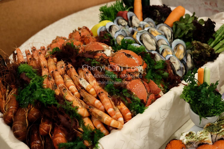 Assortment of fresh seafood