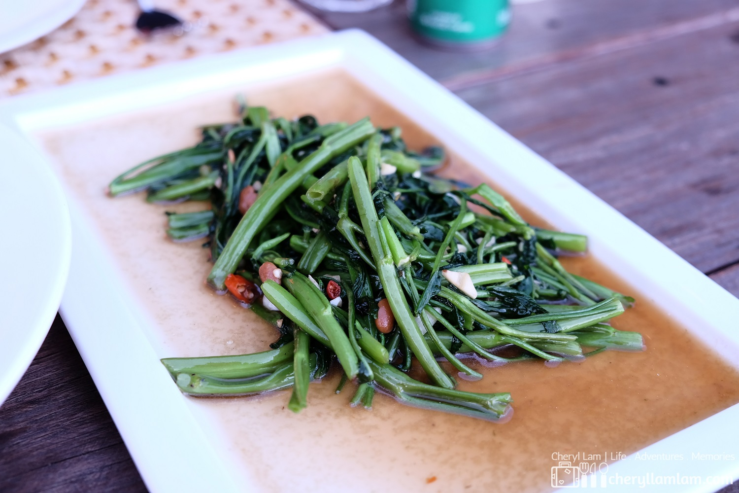 My all-time favourite: stir-fried morning glory (water spinach)