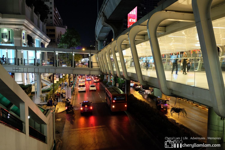 Pedestrian bridge at BTS station