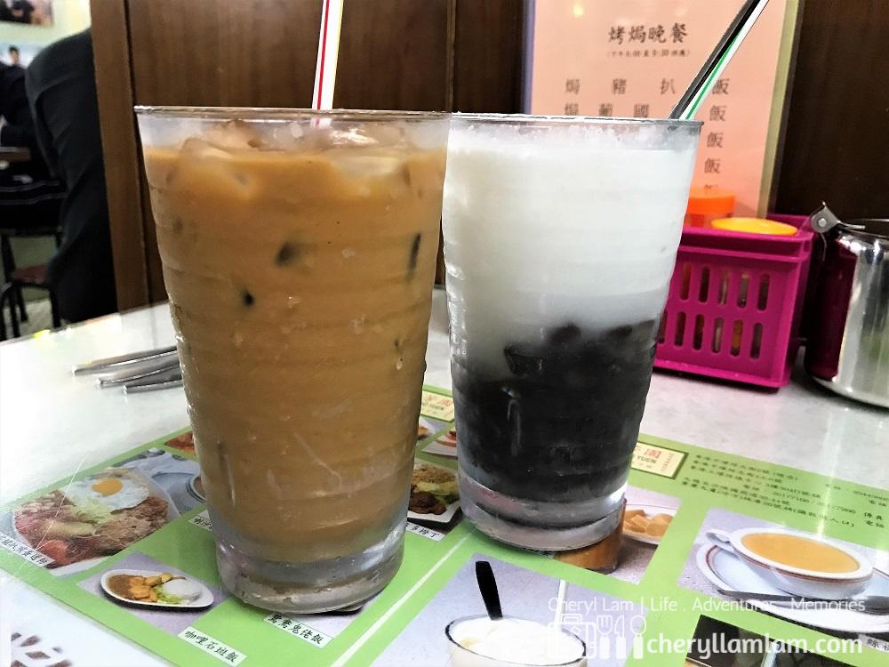 Lan Fong Yuen's famous milk tea & Red Bean Ice