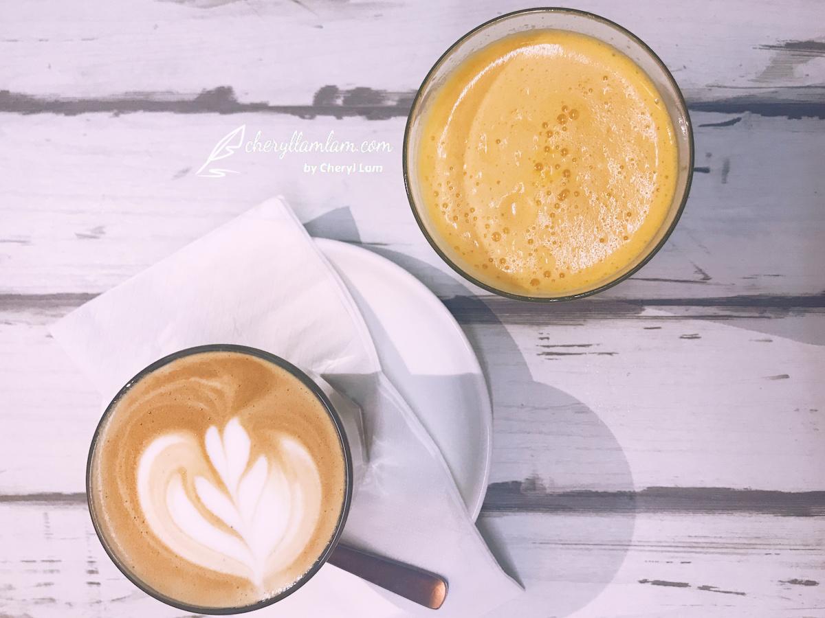 Hot Latte RM11 & Fresh Orange Juice RM8