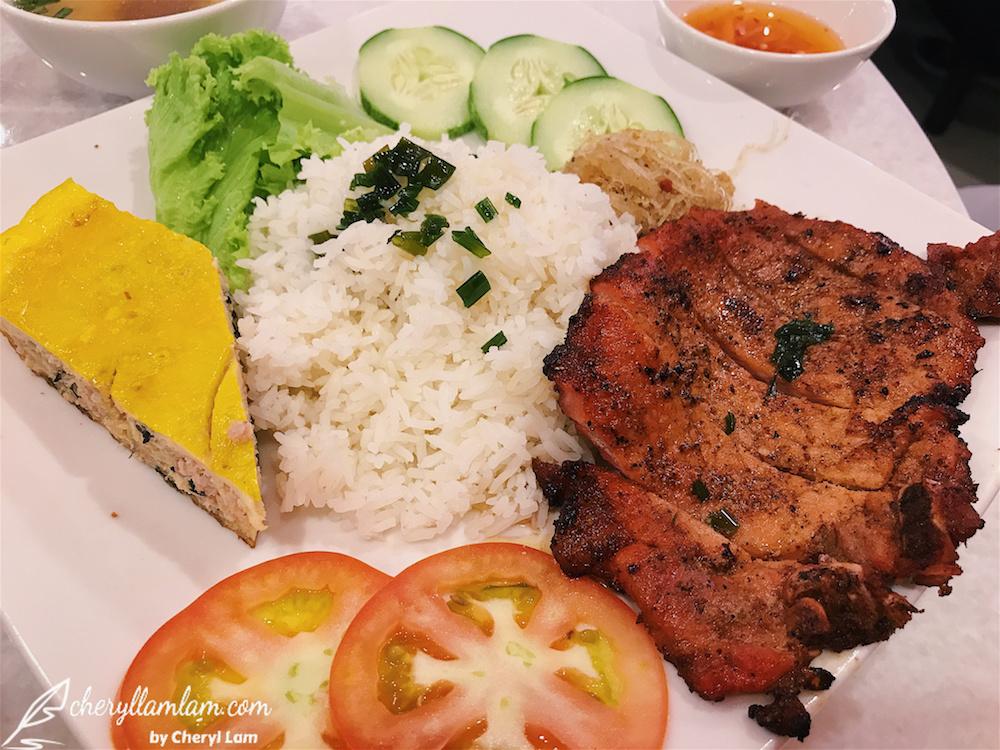 Char Grilled Pork Chop with Broken Rice - MYR 15.90