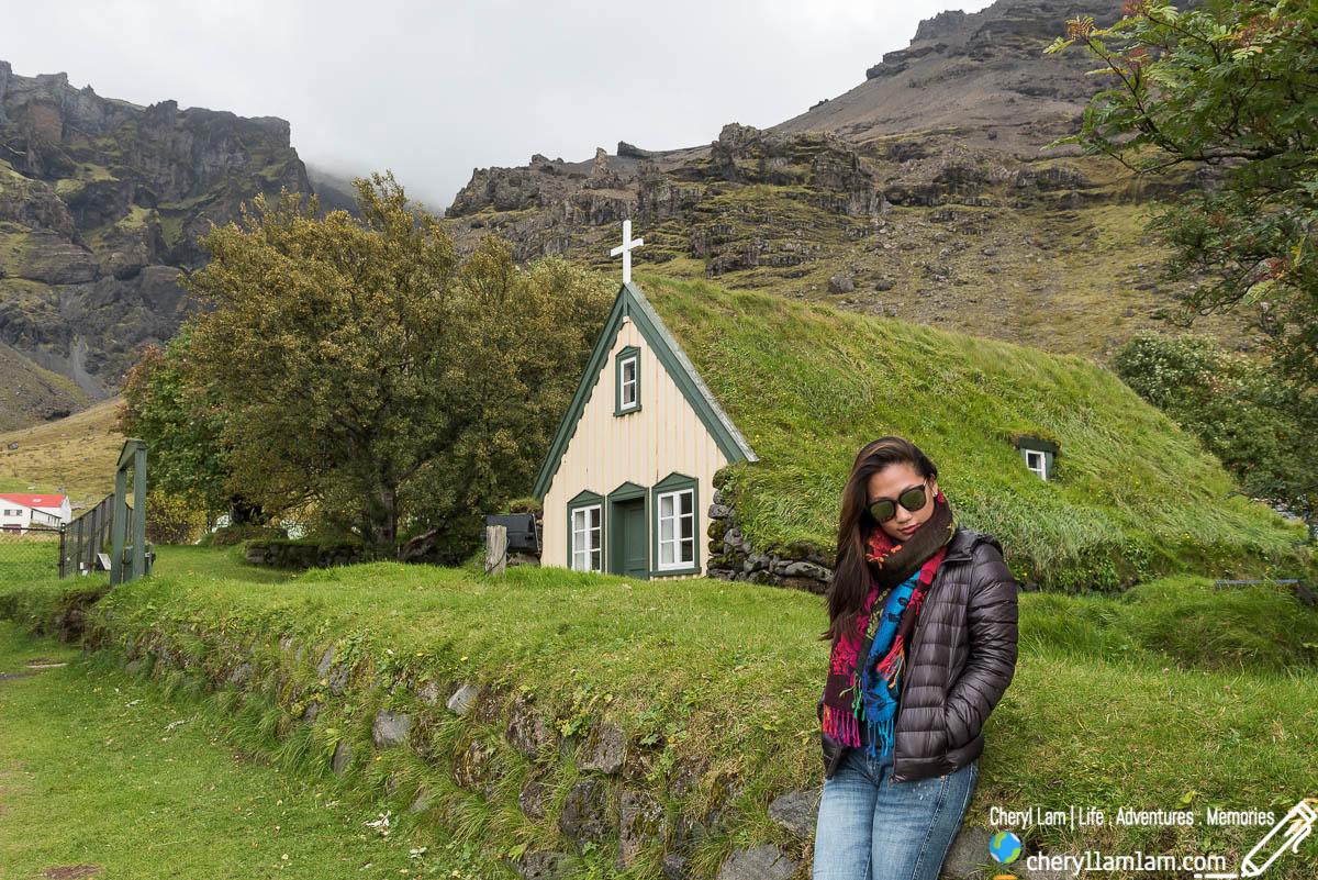Hofskirkja turf church Iceland