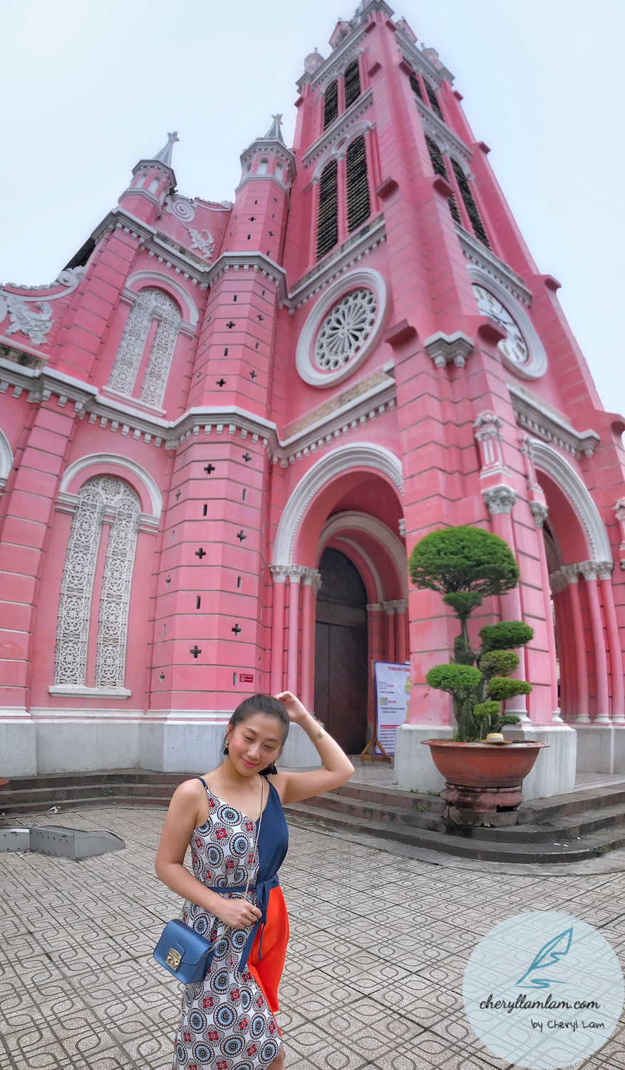 A lovely pink church worth visiting in Saigon - Tan Dinh Church
