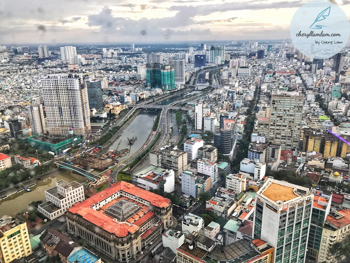Bird's eye view of Saigon city from Saigon Sky Deck