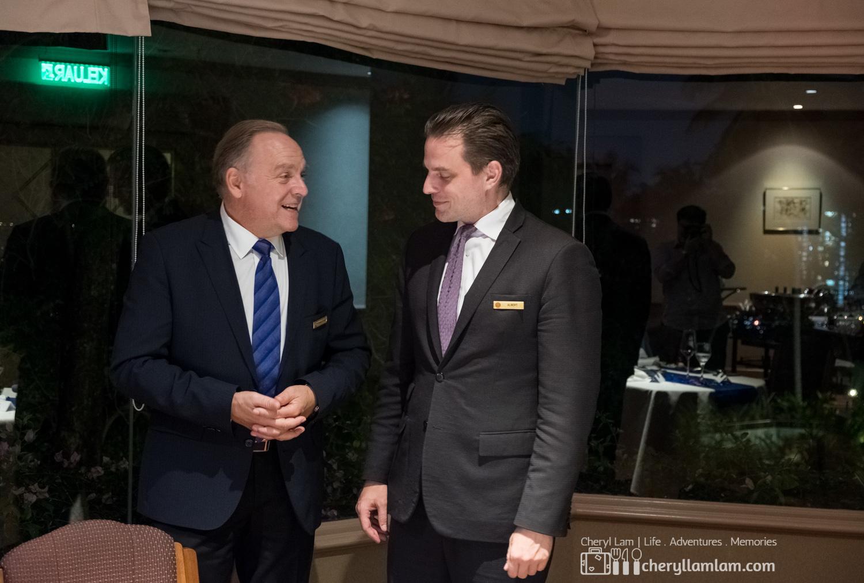 Left: General Manager, Andreas Knussi ; Right: Director of F&B, Albert Jan Van Beusekom