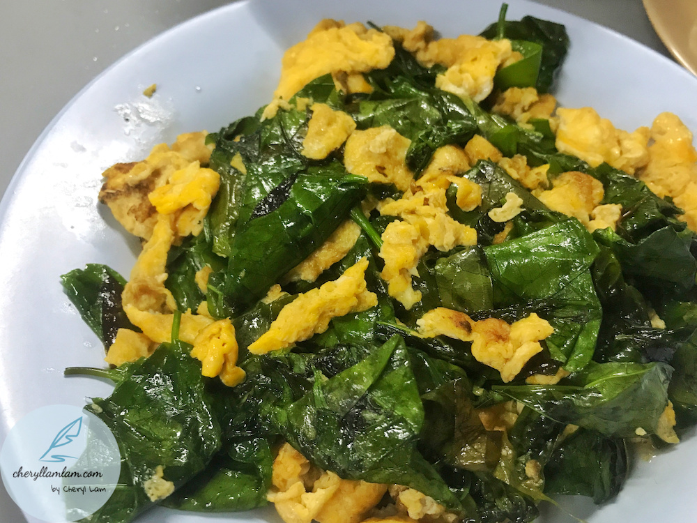 Stir fried vegetables with eggs