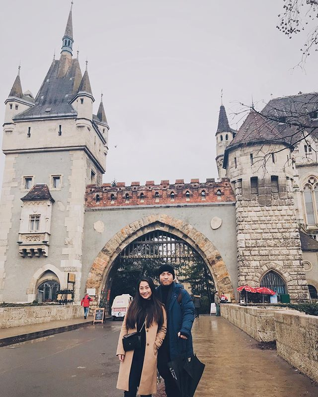 """When people show off their insta-bfs or insta-husbands, I am grateful to have an insta-brother! He is behind all the beautiful photos and portraits during our travels, and he is also my """"bestest"""" travel mate! 👫 #thankyou #cheryllamtravels #cheryllaminbudapest"""