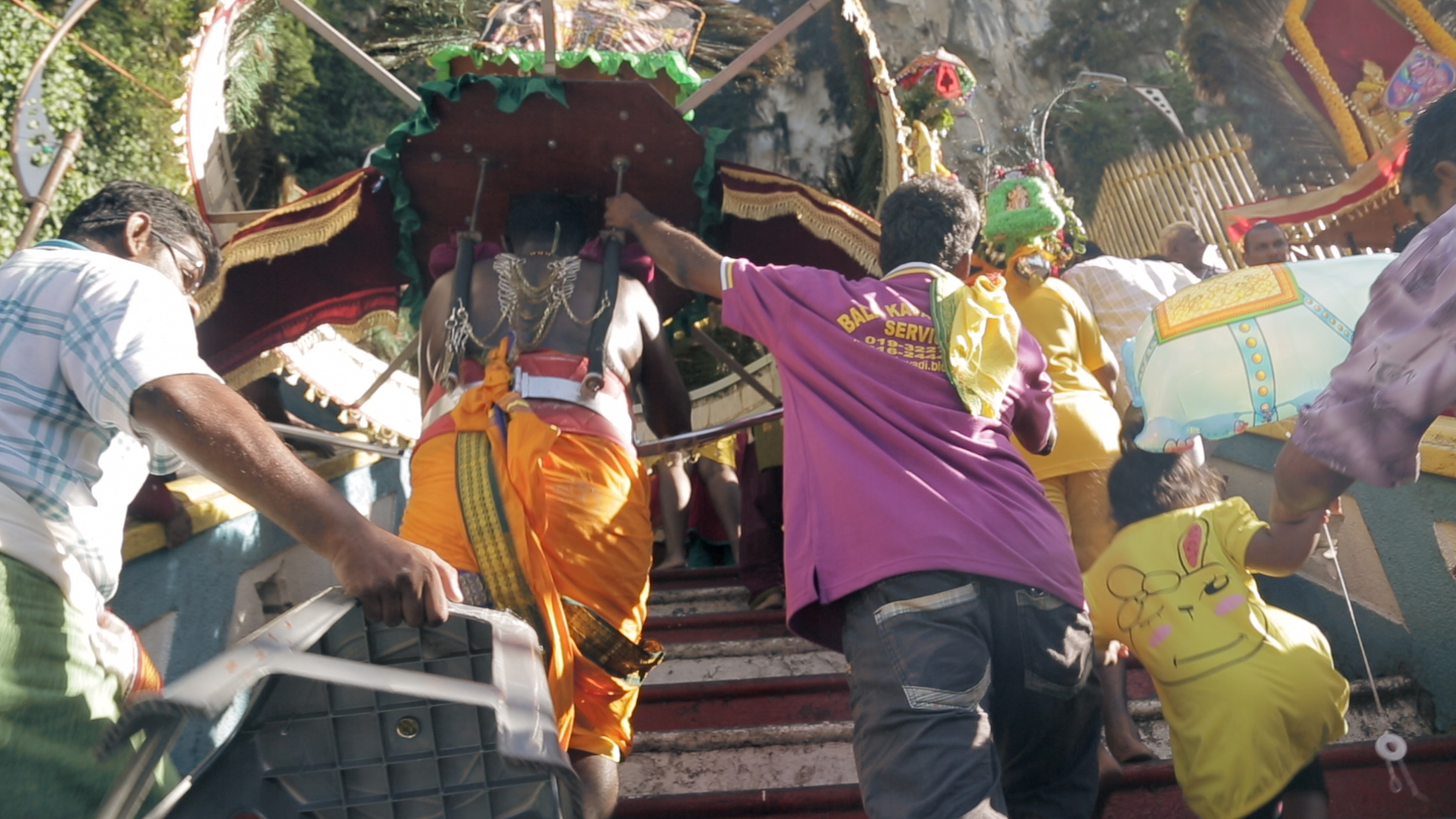 THE MEN WHO CARRY THAIPUSAM
