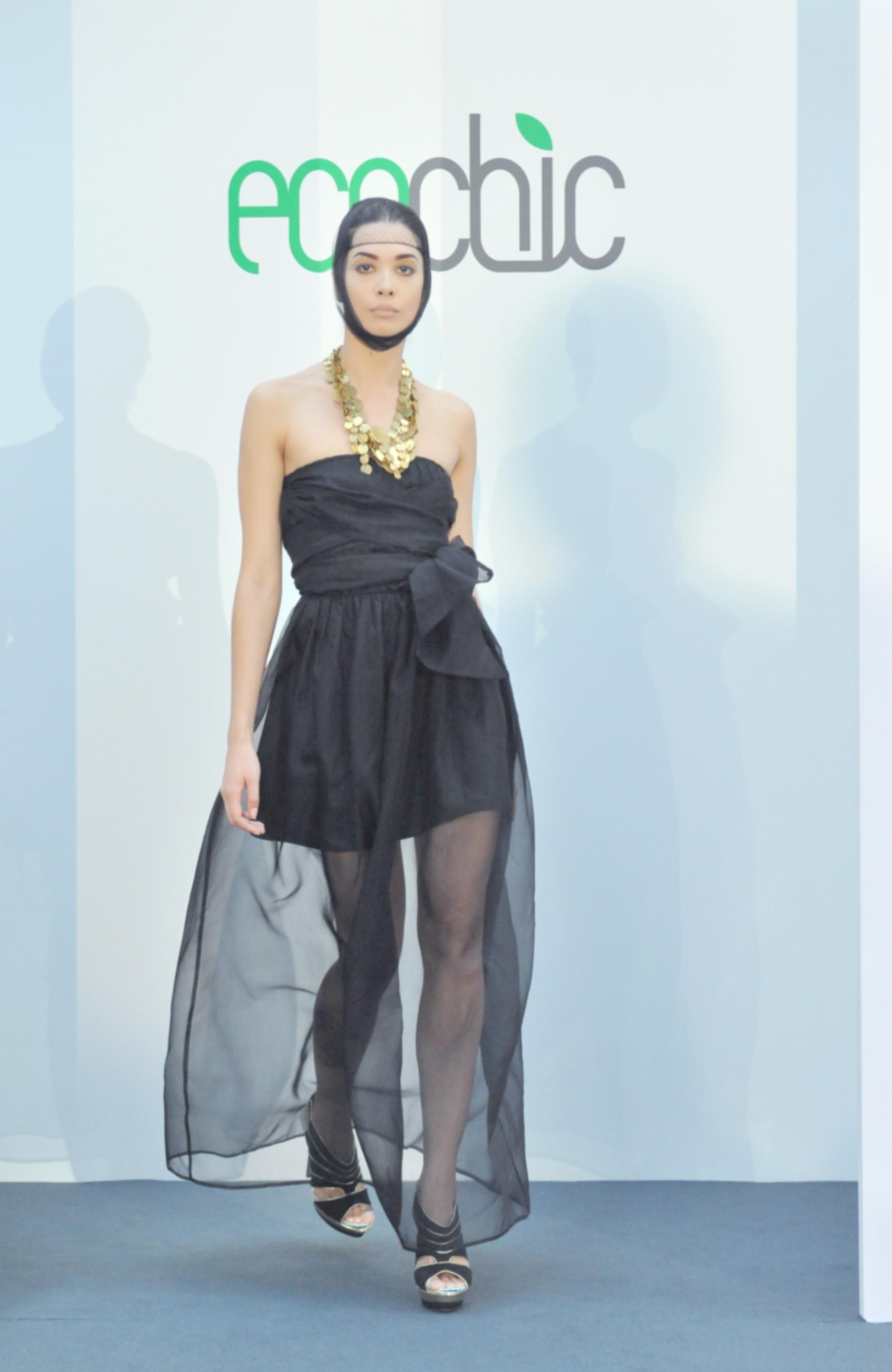 5. Lara Miller black organza silk dress with inner slip layer (bamboo:organic cotton) and MADE necklace (fair trade).jpg