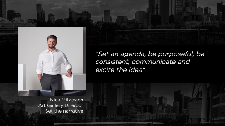 Nick Mitzevich - Art Gallery Director
