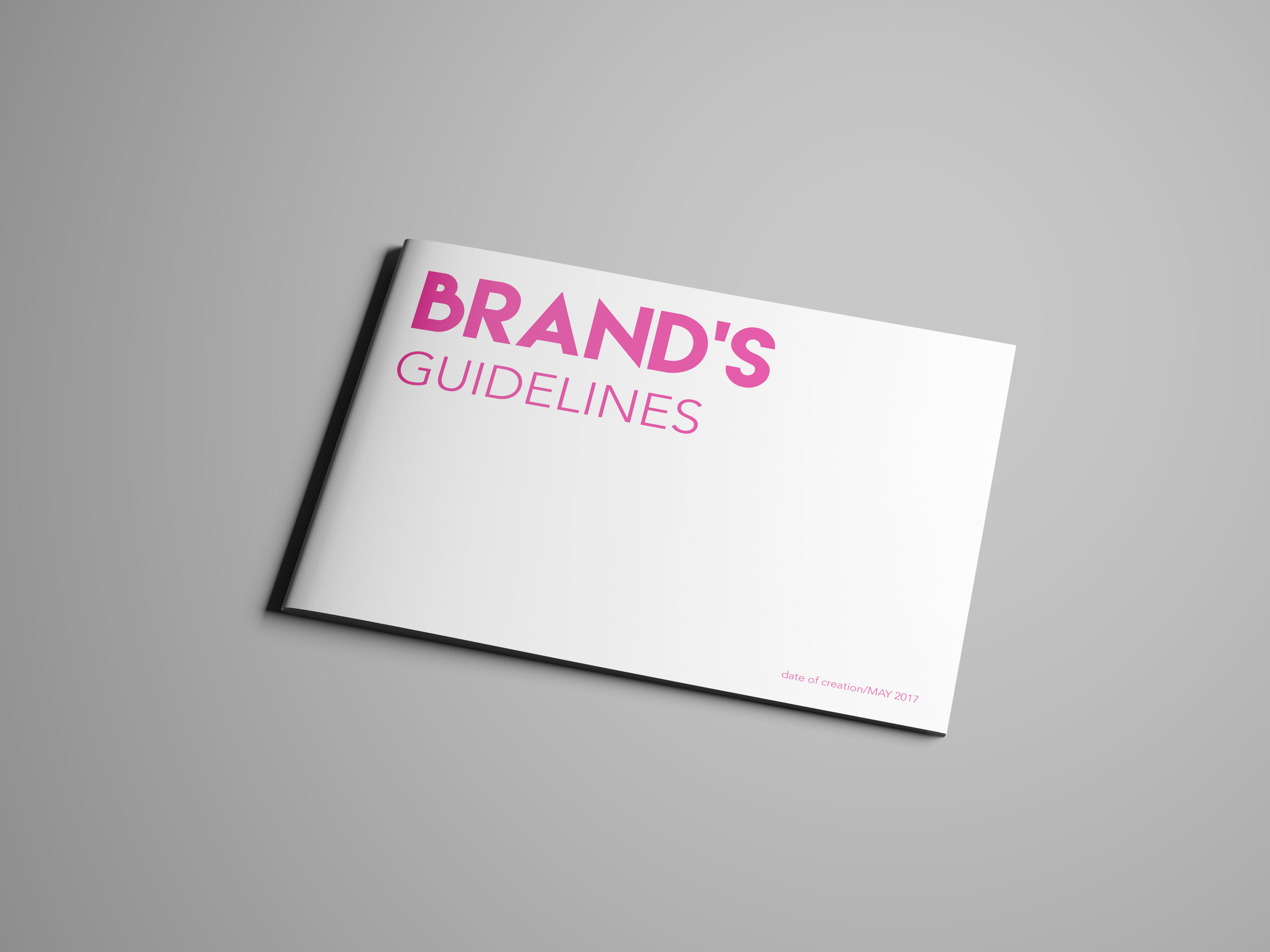 Brand Guidelines - The Brand Guidelines is a document that helps the company to use their visual identity on a day-to-day basis in order to stay