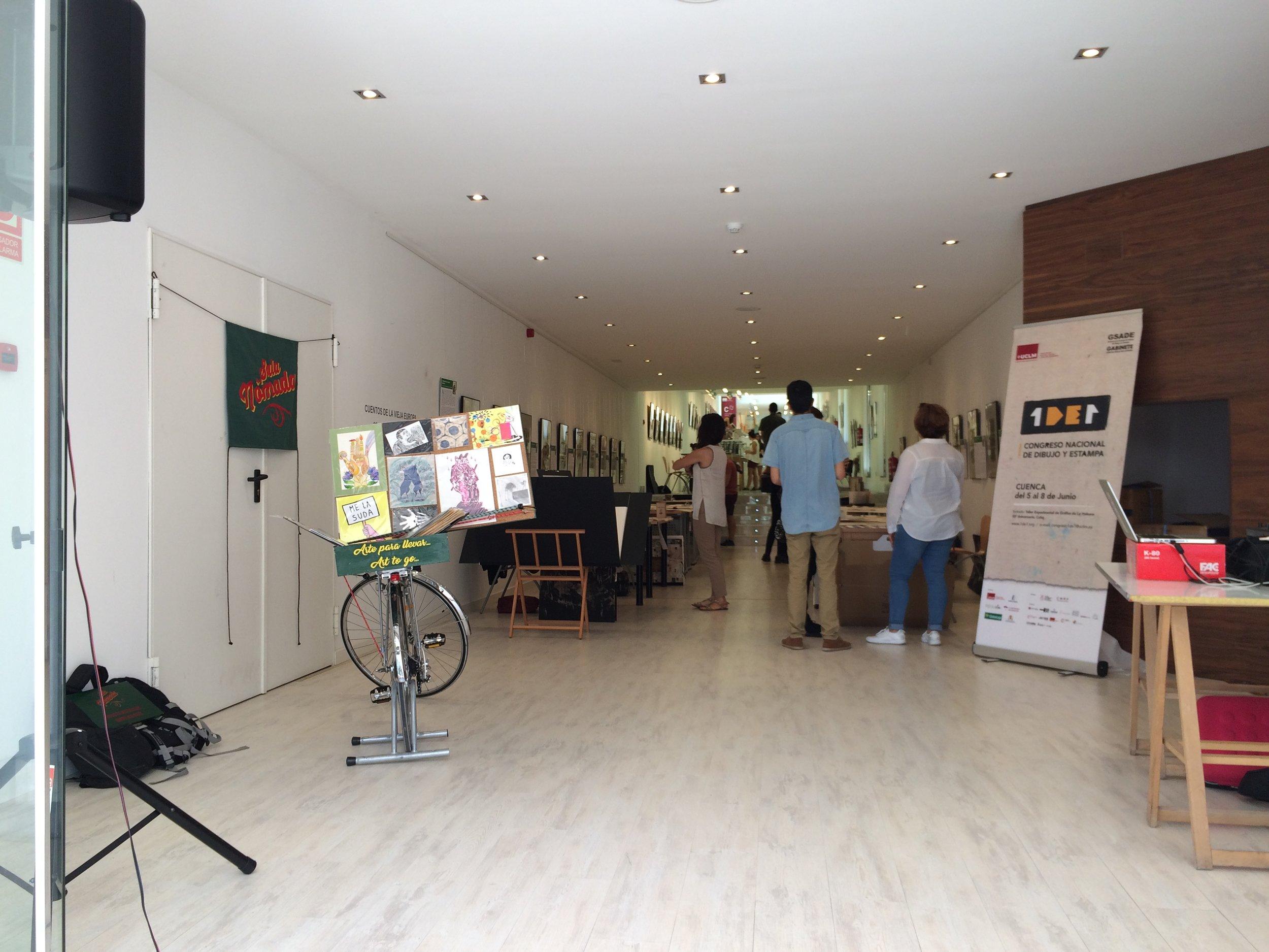 Entrada en el edificio Paraninfo de la UCLM en Cuenca