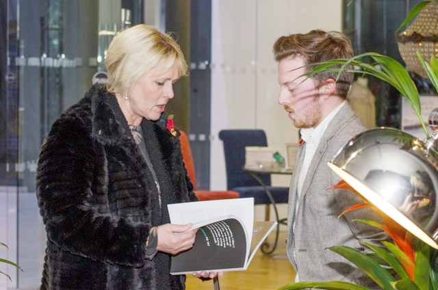 Conor is pictured with Press Club chairman Llewela Bailey at a reception held to mark the launch of his magazine.