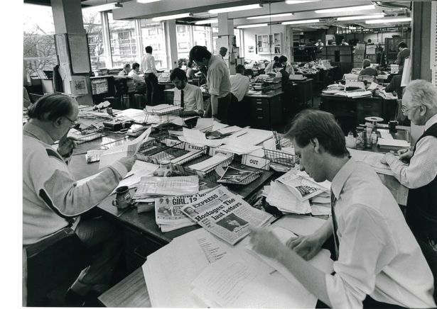 Pic: Journalists in the Coventry Telegraph's former newsroom