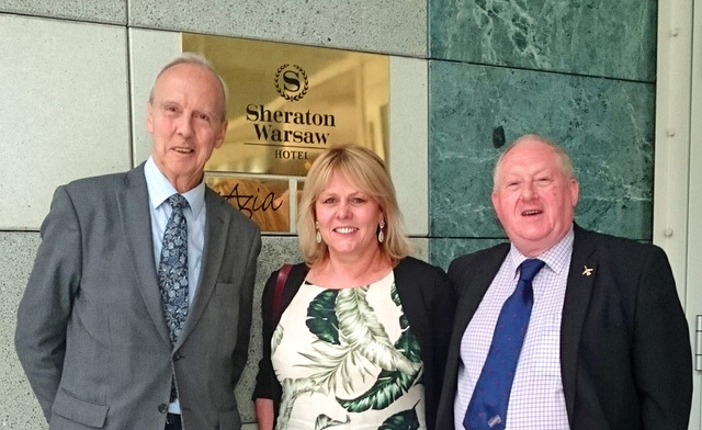 Birmingham Press Club chairman Llewela Bailey together wit ... (right) and Dr Martyn Bond from the London Press Club