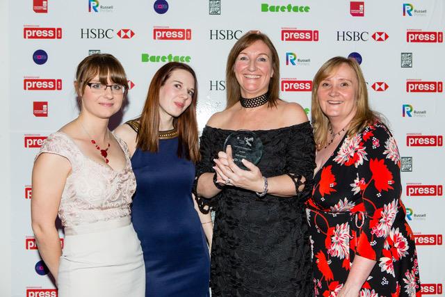 Helen Kreft, Rhea Turner, Emma Turton, Julie Crouch of Burton Mail