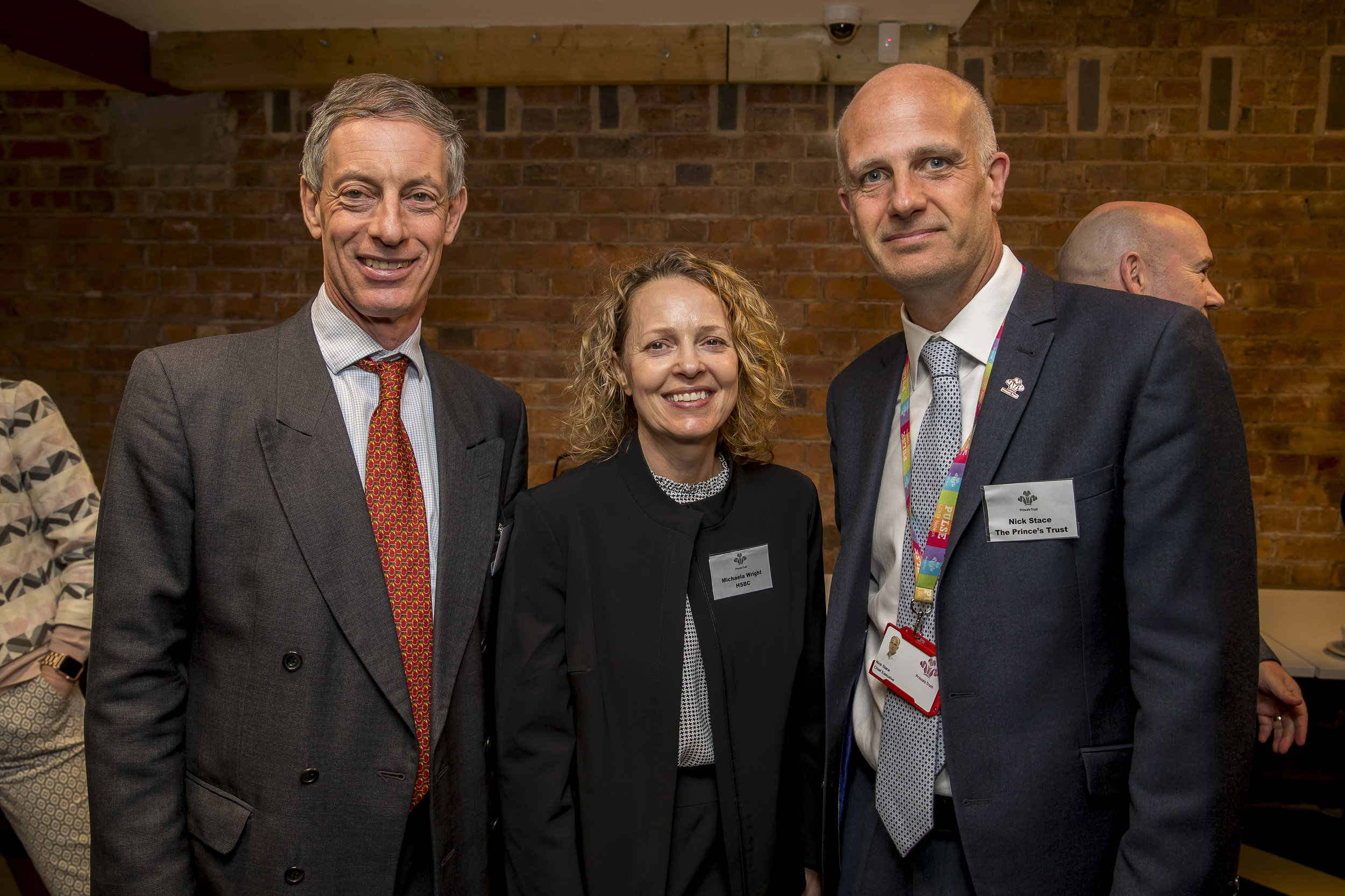 Pictured (l-r) Brendan Cook, Head of Transformation at HSBC UK, Michaela Wright Head of Corporate Sustainability, HSBC UK and Nick Stace, UK Chief Executive of The Prince's Trust.