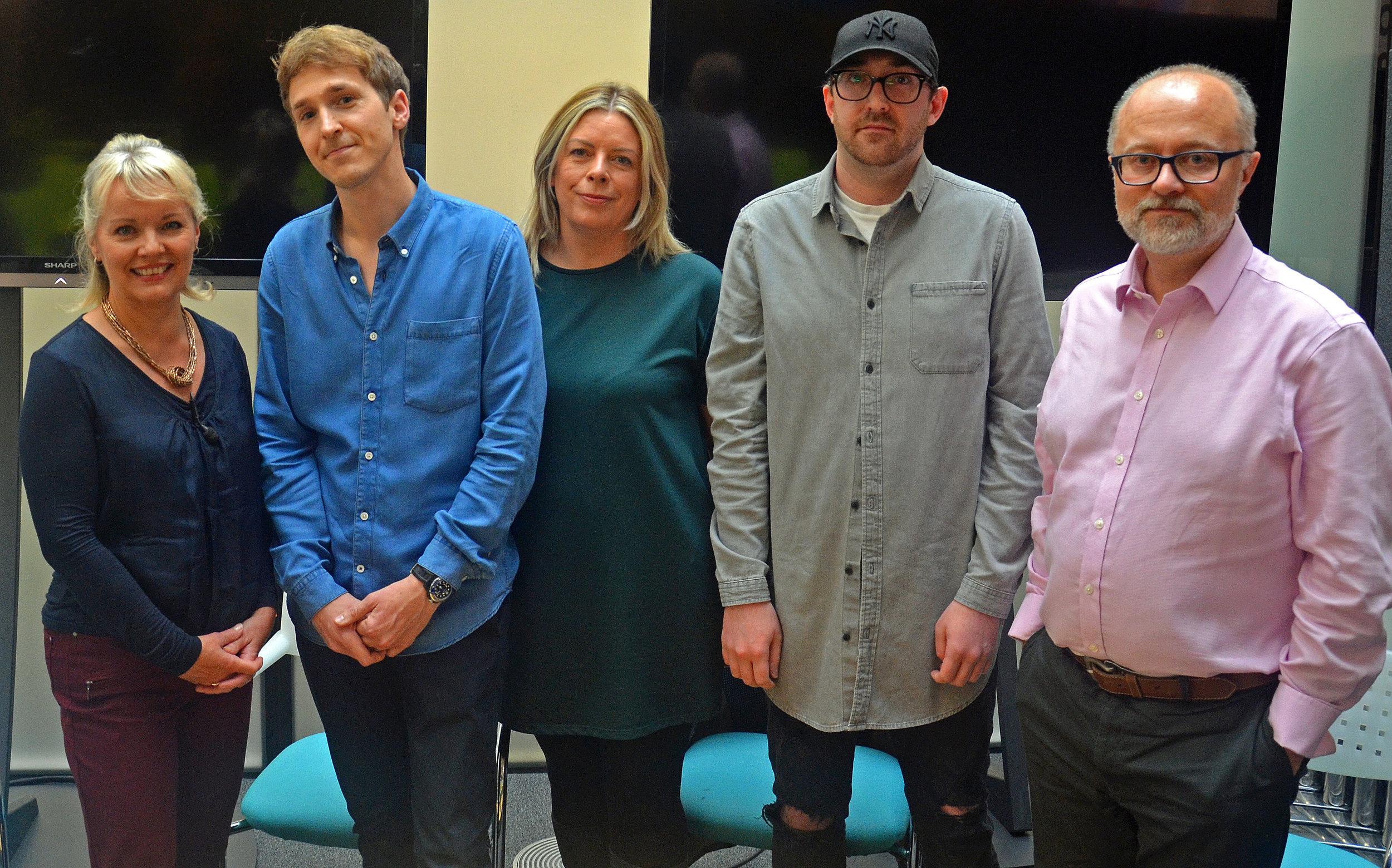 Mary Rhodes, Rob Adcock, Eileen Murphy, Luke Addis, Marc Reeves