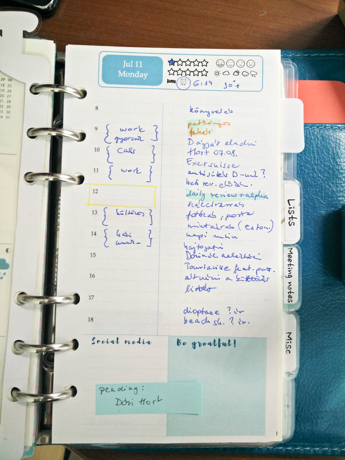 How to deal with the stress caused high number of daily tasks