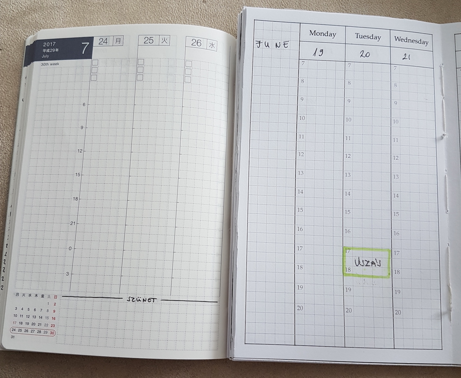 As you can see, I created a similar booklet before I discovered the Hobonichi one.